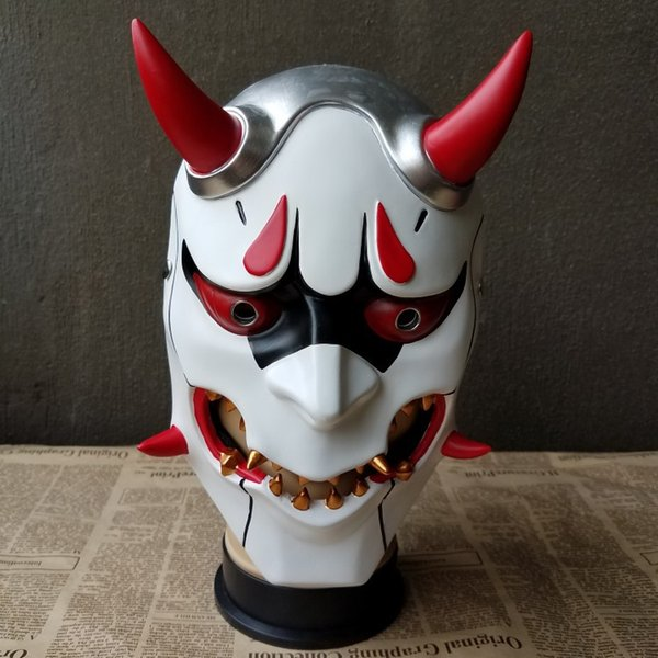 New2017 Buddha Prajna Mask Halloween Devil Full Face Scary Horror Movie Mask Masquerade Party Wargame Field Game Japanese Mask Free Shipping