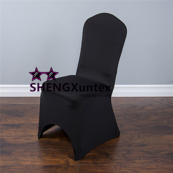 Black Color For Wedding Lycra Spandex Chair Cover Free Shipping Cheap Price