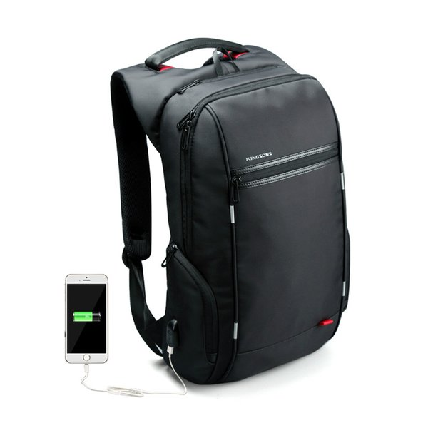 c64703ad0127 Wholesale- 15 17 inch Women Men Laptop Backpack External USB Functional  Computer Notebook Bag Anti-theft Business Bag Travel Women Backpack