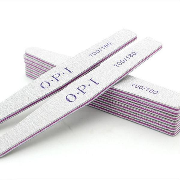 Оптовые-5 Шт. / Лот Пилочка для ногтей 100/180 Шлифовальный буферный блок Педикюр Мани