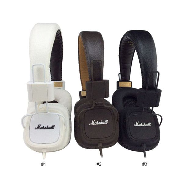 Marshall Major headphones With Mic Deep Bass DJ Hi-Fi Headphone HiFi Headset Professional DJ Monitor over-ear Headphone