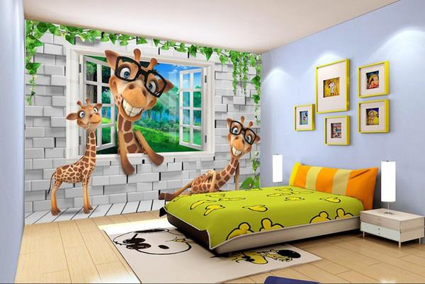 Großhandel Benutzerdefinierte Wallpaper 3d Tiere Kinderzimmer Kulissen 3d  Tapete Wohnzimmer Tapetenwandbild 3d Von Yeyueman8888, $23.11 Auf ...