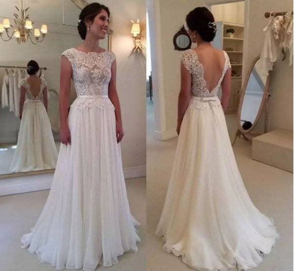 Großhandel Solove Kleid Backless Formale Brautkleider Chiffon ...