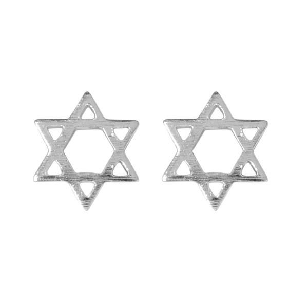5 pairs/lot Hollow Wish Hexagram 925 Sterling Silver Stud Earrings for Women Vintage Jewelry Korean Bohemian Cute Love Minimalist