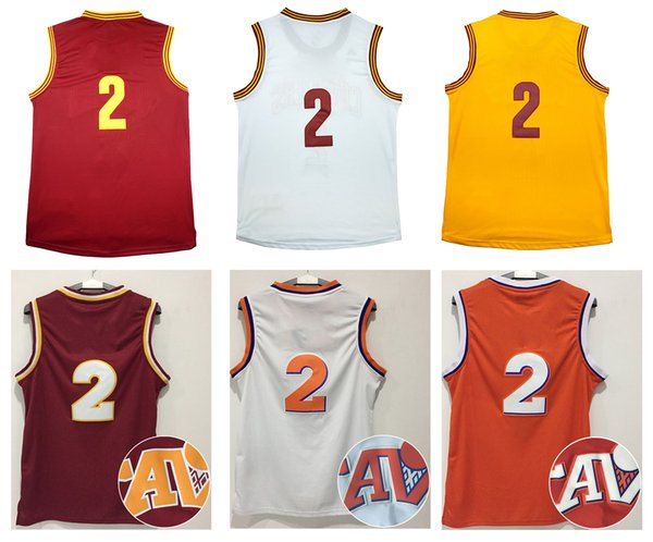 a13c02910 ... coupon code for 2017 mens basketball jerseys 2 kyrie irving white  yellow red dark blue jerseys