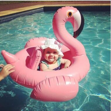 Baby Swimming Ring Inflatable Flamingos Swan Seat Boat Water Swim Ring Pool Swiming Float Swimming Pool Beach Toys KKA1403