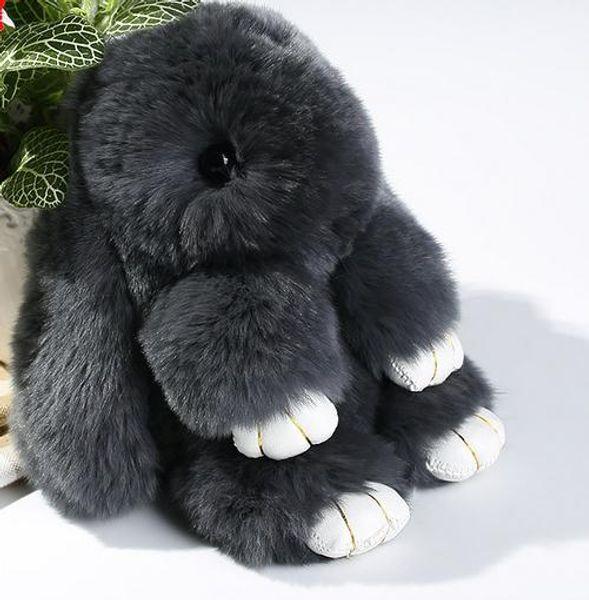 best selling 100% Real Genuine Rex Rabbit Furs Keychain Fur Keychain Bag Charms Car Pendant Lovely Cartoon Handbag Keyrings