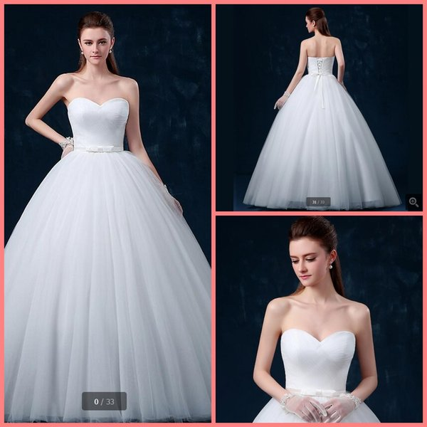Vestido De Novia Saudi Arabia Ball Gown Wedding Dress Strapless ...