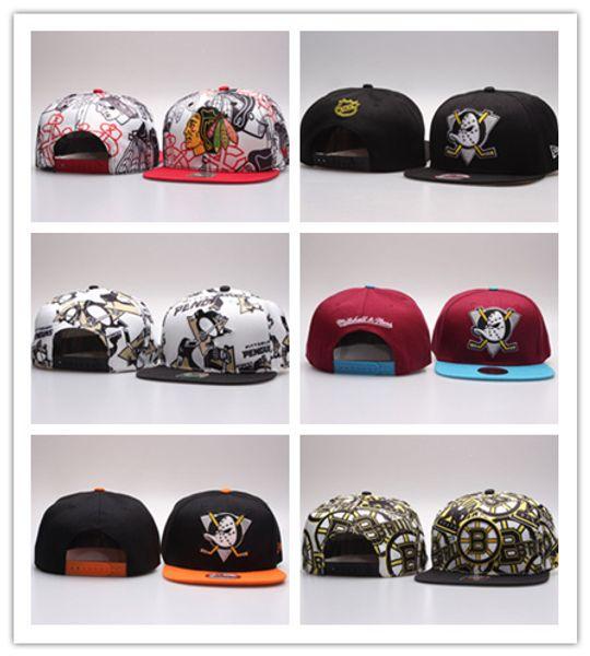 Cheap Hot 2017 NHL Mighty Hockey Snapback Hats Anaheim Ducks bone Flat Fashion nhl Hats sports Cheap mens & women baseball caps