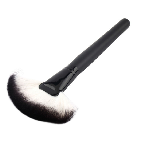Wholesale-1pc Soft  Large Fan Brush Blush  Foundation Make Up Tool big fan Cosmetics brushes