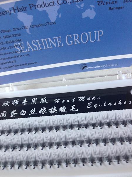 New Natural Long Black Individual False Eyelashes Eye Lash Extension Makeup Tool 60 Knots 10 12MM Available