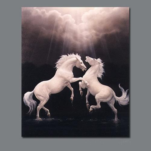 Framed Animal Horses,genuine Pure Handpainted Animal Art oil Painting On Thick Canvas Multi sizes Available Free Shipping HS030