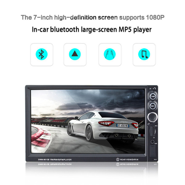 Multi function 7 Inch HD Touch Screen Bluetooth-Enabled Car MP4 Player FM Radio Double Din DVD Audio & Video