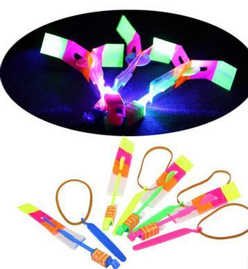 400pcs Free Shipping DHL Special Sale! Newest Toy LED Amazing Arrow Helicopter Flying Umbrella LED Flyer LED Arrow Helicopter