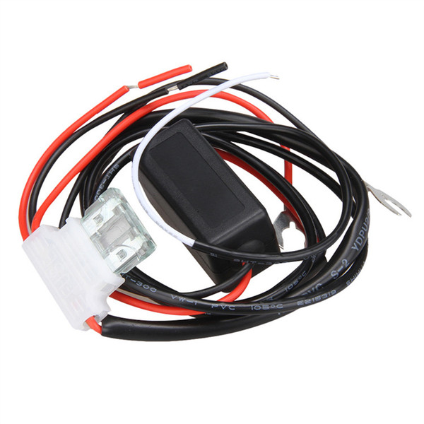 top popular Car Intelligent DRL LED Daytime Running Light Relay Harness DRL Controller Cable Wires auto LED Daytime running parking light On Off Switch 2021
