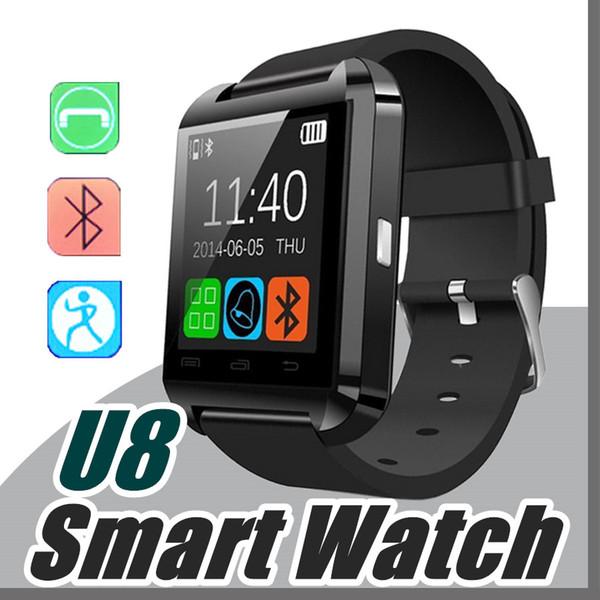 50X Bluetooth Smartwatch U8 часы Smart Watch наручные часы для Samsung S4 / S5 / S6 / S7 / примечание 2 / Примечание 3 / примечание 4 / Android телефон HTC смартфоны A-BS