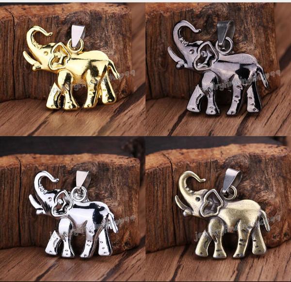 20шт Горячий Новый мужской мужской титана стали слон кулон ожерелье цепь ювелирных изделий подарок