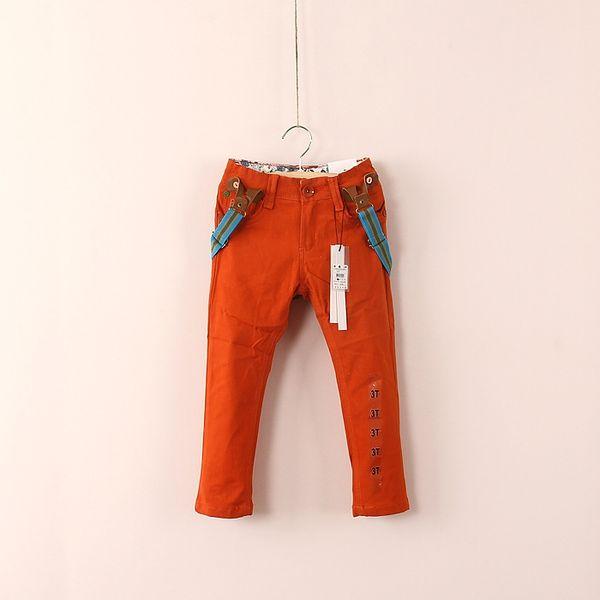 (7-8Y) jongens brut vetement garcon scherzt Freizeithose mit beiläufigen Hosen der Hosenträger mit Klammern für Jungenhosen Freies Verschiffen