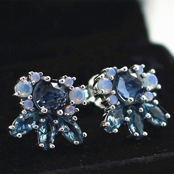 d10612836 High-quality New 100% S925 Sterling Silver Stud Earrings European Pandora  Style Jewelry Earrings