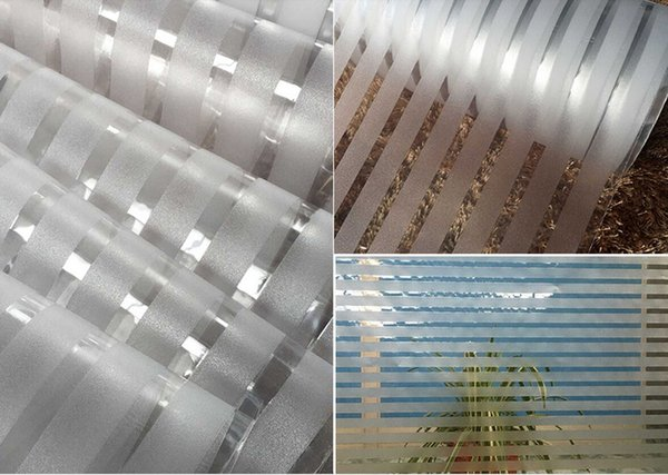 10m Thicker Electrostatic Glass Film Wallpaper Freeze-free translucent glass paste office corridor cut off frosted stripes