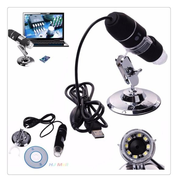 Gros 0.3MP 1000X 8LED USB Microscope Numérique Zoom Vidéo Caméra Vidéo Électronique Caméra Loupe + Alliage Stand