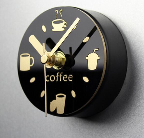 top popular creative alarm clock Leisure time clock refrigerator magnets message posted withdrawing watch fridge magnet mute wall clock 2019
