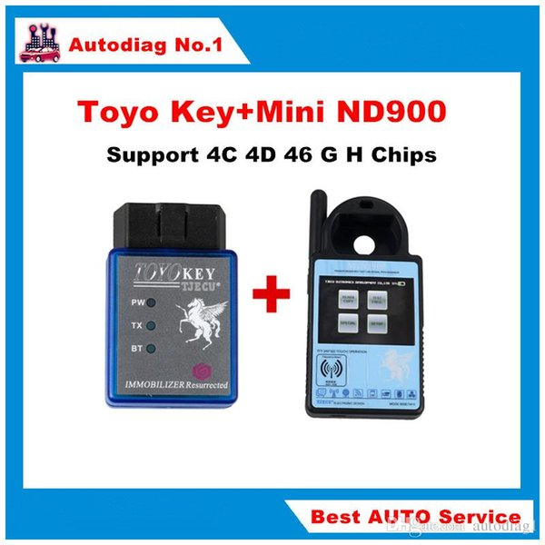 Mini ND900 Transponder Key Programmer Plus Toyo Key OBD II Key Pro Soporte 4C 4D 46 G H Chips