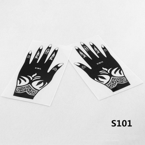 Wholesale 12 pcs Henna Stencil Arabic Indian Style Temporary Hand Tattoo Body Art Sticker Reusable Airbrush Tattoo Supplies