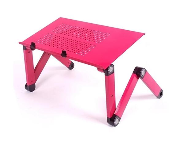 Vente en gros - Nouveau 360 degrés réglable tablette pliable PC stand titulaire Bureau portable Table portable Vented Stand Bed Plateau canapé Lapdesk avec ventilateur
