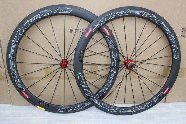 Adesivi per auto da corsa Pwwerway R36 R39 R 700C set ruote in carbonio da 50mm copertoncino in carbonio ruote da bicicletta Full carbon