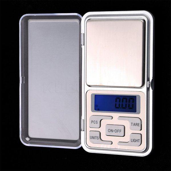 Portable 500g x 0.1g Pocket Digital Scale Tool LCD Electronic Jewelry Diamond Gold Herb Balance Weighting Scales Blue Backlight