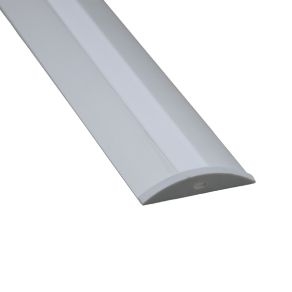 10 X 1M sets/lot Al6063 flat type led channel strip fixture and led mounting profile for cabinet or kitchen led lamps