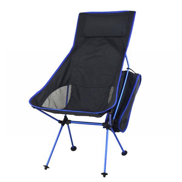 Sedia da pesca leggera all'ingrosso-professionale Sedia da campeggio pieghevole portatile allungabile sedia da pesca per picnic BBQ Beach Party