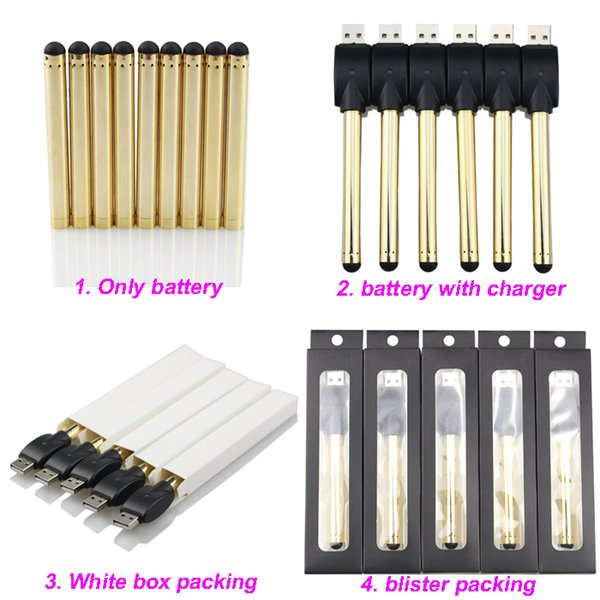 Golden O stylo vape bourgeon tactile batterie avec chargeur USB 510 fil e cartouches de cigarettes cire huile stylos pour cartouches stylo vaporisateur CE3