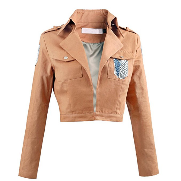 Attack on Titan Shingeki no Kyojin Recon Corps Jacket Coat Blue and white standard Cosplay Costume