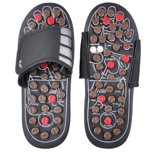 Foot Massage Slippers Health Shoe Sandal Massages Reflexology Feet Elderly Healthy Care Product Rest Pebble Stone Massager Shoes