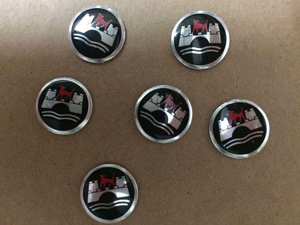 14MM R GTI Wolfburg Logo Aluminium Remote Key Fob Emblem Sticker Key Shell Badge for VW Golf Polo Passat GTI Touran Tiguan