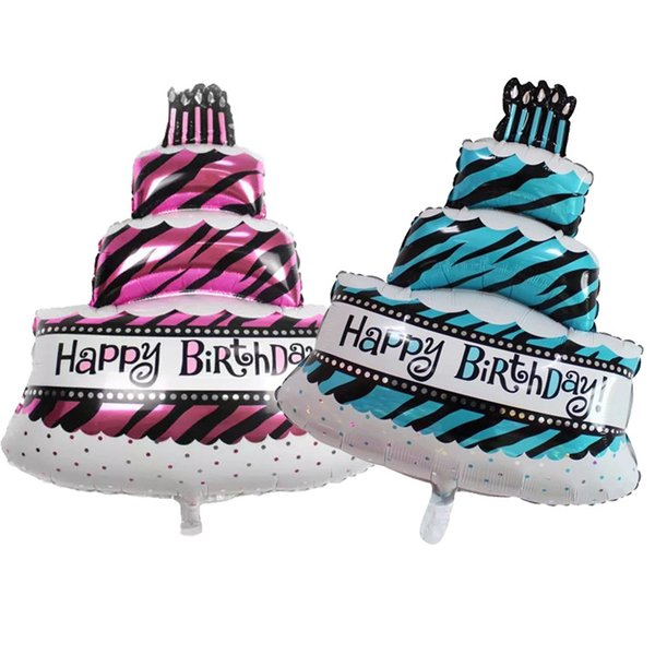 100X69cm Giant Jumbo Large Three Layer Cake Candles Birthday Party Balloon Decoration Aluminum Foil