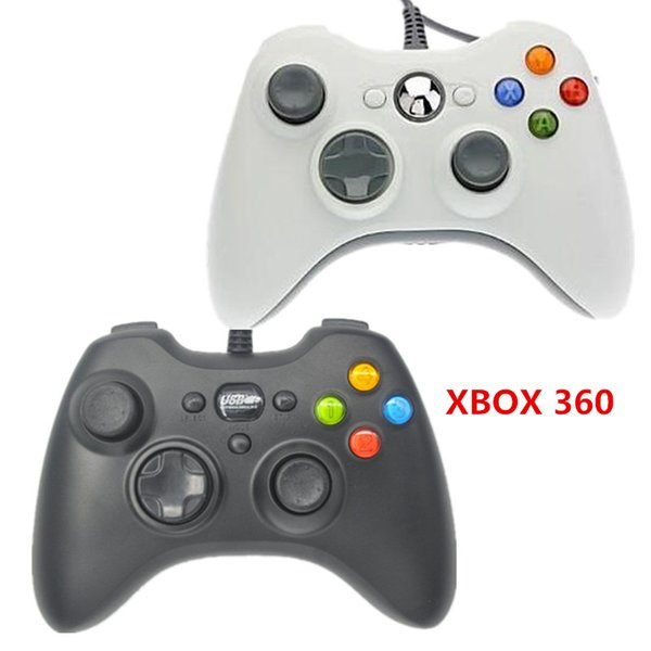 Black White USB Wired Gamepad Controller joystick gamepad joypad game controllers For MICROSOFT Xbox 360 Slim PC Windows Computer laptop