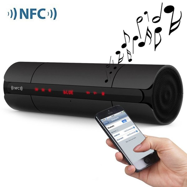 Portable NFC FM HIFI Bluetooth Speaker Wireless Stereo Loudspeakers Super Bass Smart Touch Button Sound Box Handsfree 20PCS
