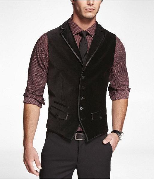 Klassische Mode Black Velvet Tweed Westen Wolle Fischgrät Britischen Stil Herren Anzug Schneider Slim Fit Blazer Hochzeit Anzüge für Männer P: 5
