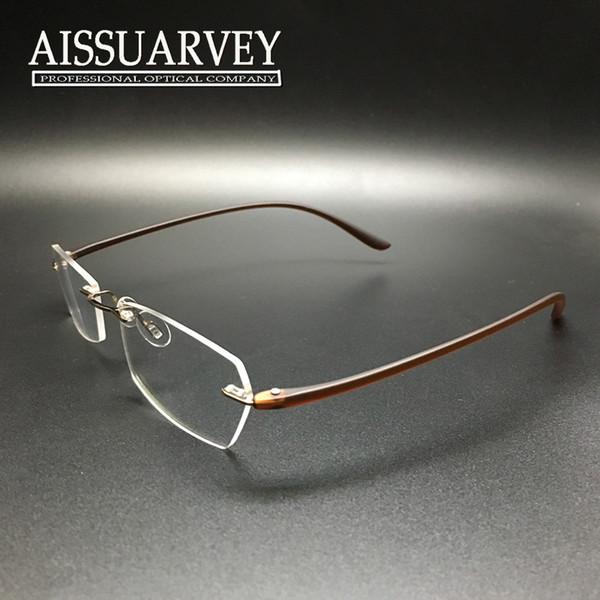 womens designer eyeglass frames  Women Glasses Frame Fashion Brand Designer Rimless Ultra Light ...