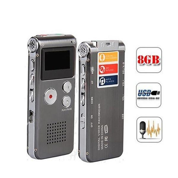Großhandels-8GB Qualitäts-Digital-Sprachaufzeichnungsanlage High Definition-Ton Recordin Intelligentes HD Sprachaudio Sprachaufzeichnungs-Diktaphon