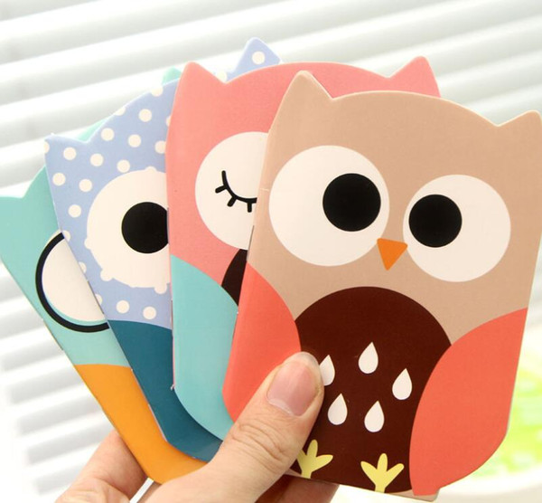 Wholesale- 1Pcs/Set Korean Cartoon Creative Stationery Notepad Office Supplies School Cute Cartoon Owl Filofax Notebook Diary Students