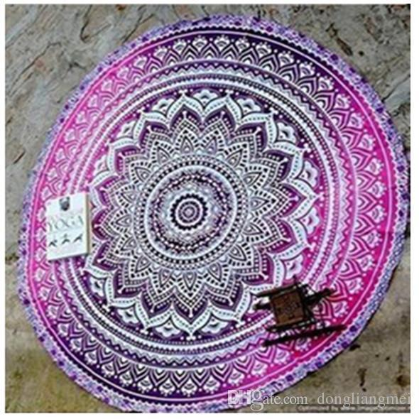 150cm 130g Indian Mandala Bedspread Tapestry Shawl Wall Hanging Bohemian Ethnic Throw Beauty Wall Decor Beach Towel Bed Cover Yoga Mat Wn123