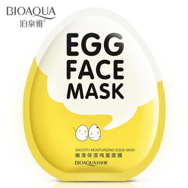 Großhandel-2Pcs New Arrival Egg Beauty Care Gesichtsmaske Feuchtigkeitsspendende Anti-Pilaten Maquiagem Korean Kosmetik für Frauen