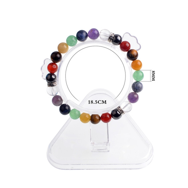 7 Chakra reiki Transshipment Natural Stone GuardianYoga Amethyst Agate Tiger Eye Green Gold Green Black Onyx Summer Crystal Jewelry Bracelet