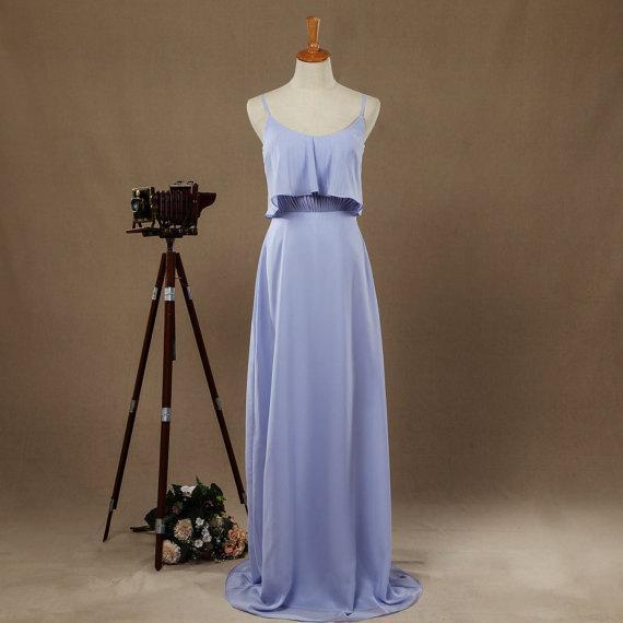 Thin straps Scoop Floor Length Evening Dresses Detachable Flap Women Bridesmaid Dresses Long Belt Prom Dress