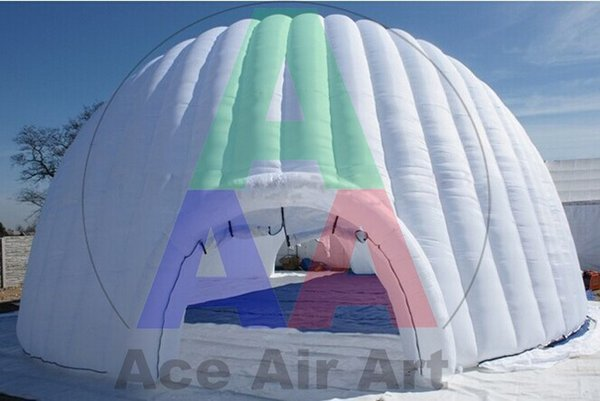 Popular Giant Inflatable White dome tent Igloo for Event add fun to your event