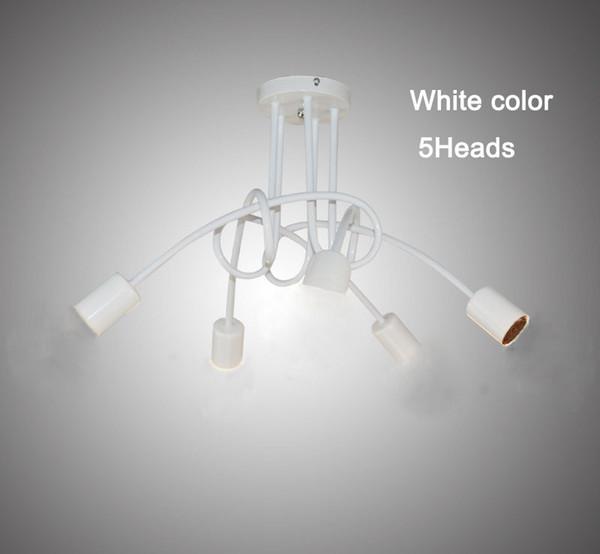 5 têtes couleur blanche